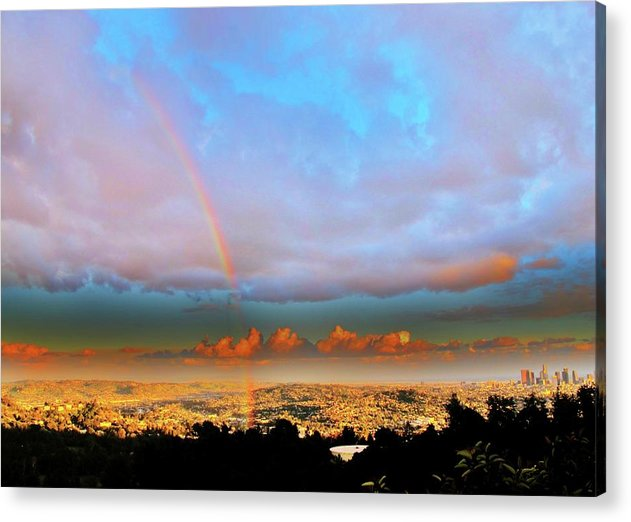 Scenic Acrylic Print featuring the photograph Layer Upon Layer Above L A by John King