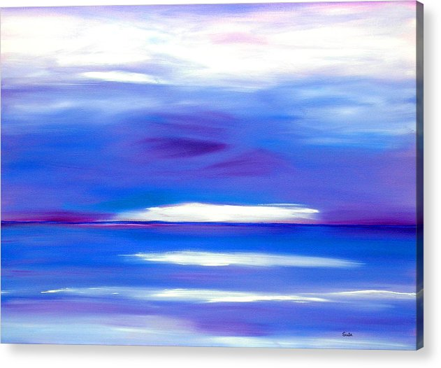 Caribbean Acrylic Print featuring the painting Lavender Water by Sula Chance