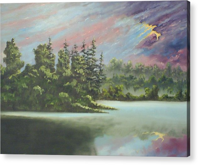 Landscape Acrylic Print featuring the painting After The Rain by Dennis Vebert