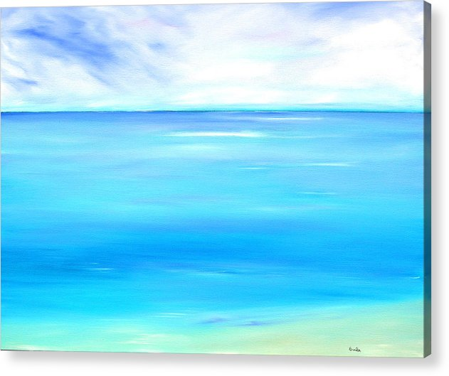 Caribbean Acrylic Print featuring the painting Marine Marble by Sula Chance