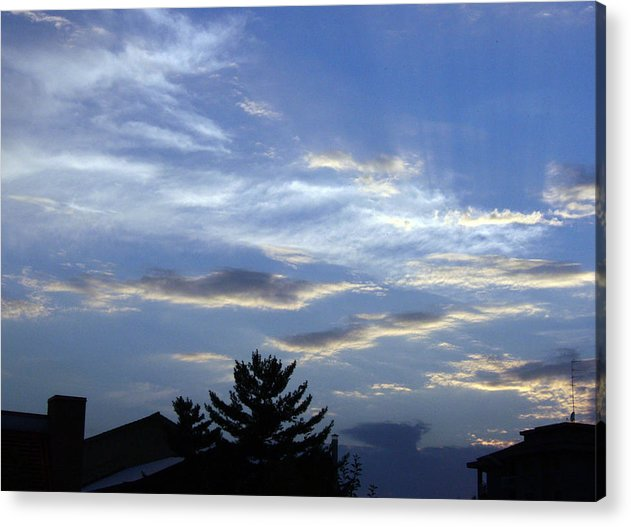 Cloud Acrylic Print featuring the photograph Sky4 by Mikael Gambitt