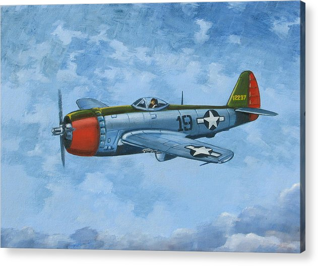 Airplanes Acrylic Print featuring the painting Thunderbolt by Murray McLeod