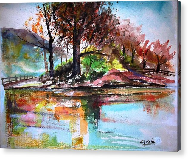 Watercolor.print. Acrylic Print featuring the print Water Colors by Carl Lucia