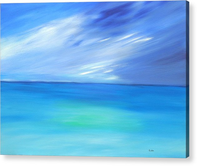 Caribbean Acrylic Print featuring the painting Aqua Pool by Sula Chance