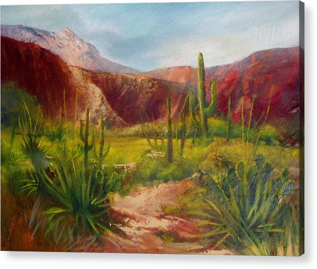 Landscape Acrylic Print featuring the painting Arizona Beauty by Robert Carver
