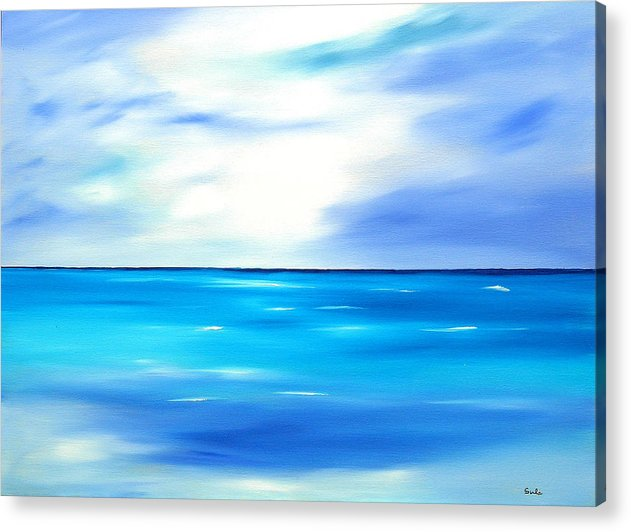 Caribbean Acrylic Print featuring the painting Forever Azure by Sula Chance