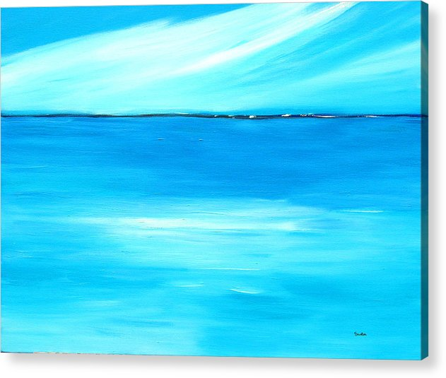 Caribbean Acrylic Print featuring the painting Marine Mirror by Sula Chance