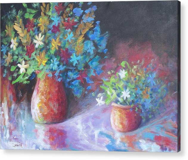 Flowers. Acrylic Print featuring the print Reflexions by Carl Lucia