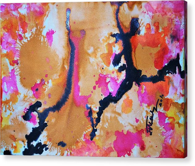 Watercolours Acrylic Print featuring the painting Joy Of My Soul by Sangeeta Malhotra