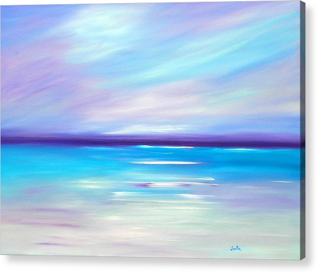 Caribbean Acrylic Print featuring the painting Lilac Islands by Sula Chance