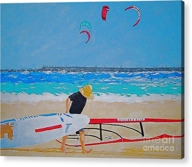 Beach Art Acrylic Print featuring the painting Dreamer Disease V Ponce Inlet by Art Mantia