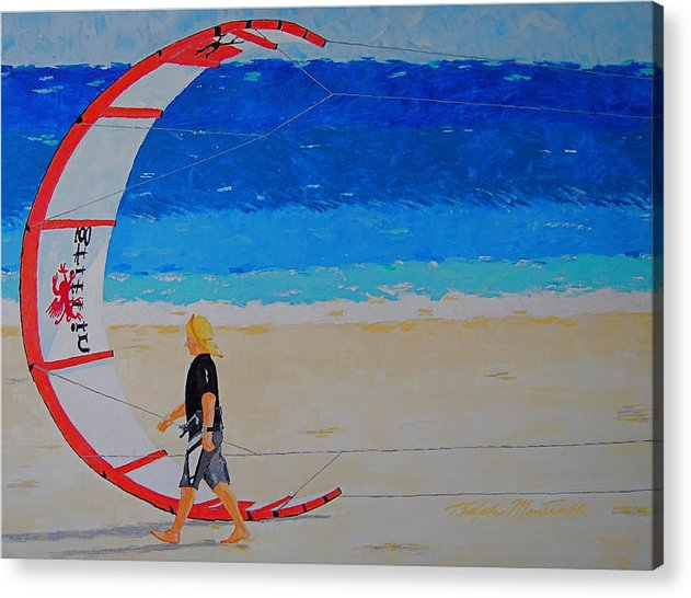 Beach Art Acrylic Print featuring the painting Dreamer Disease Vi Water And Wind by Art Mantia