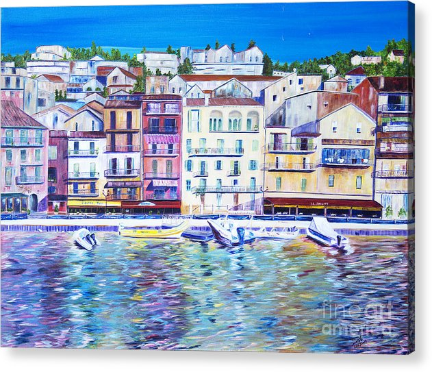France Acrylic Print featuring the painting Mediterranean Morning by JoAnn DePolo