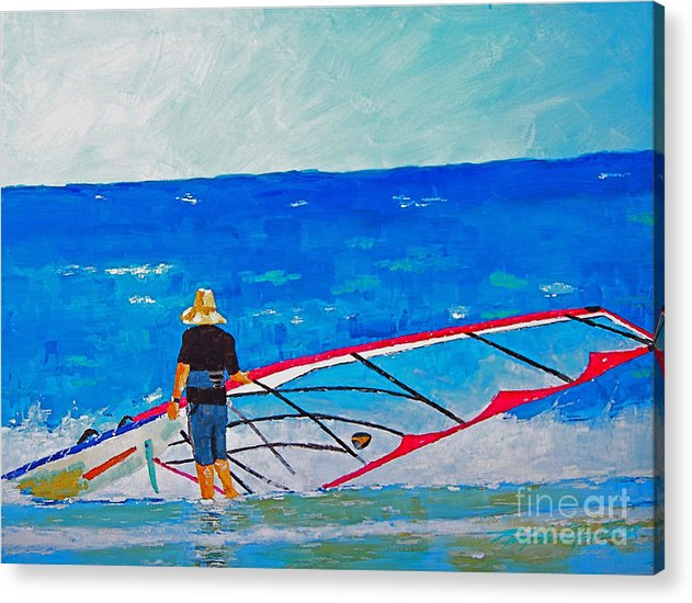 Beach Art Acrylic Print featuring the painting The Dreamer Disease I by Art Mantia