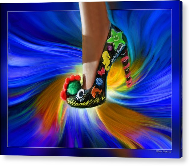 Blake Richards Photography Acrylic Print featuring the photograph Athenna's Shoe by Blake Richards