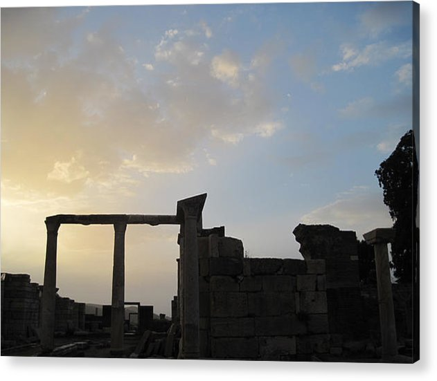 Turkey Acrylic Print featuring the photograph Sunset At The Tomb Of St. John by Black Sun Forge