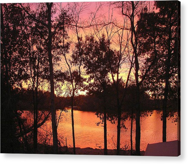 Acrylic Print featuring the photograph Oct. Sunset by Luciana Seymour
