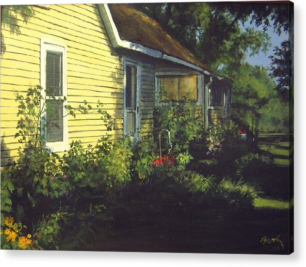 Country Acrylic Print featuring the painting Aunt Betty by William Brody