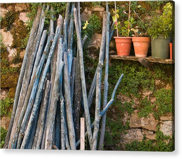 Wood Acrylic Print featuring the photograph Stacked Wood by Jim DeLillo