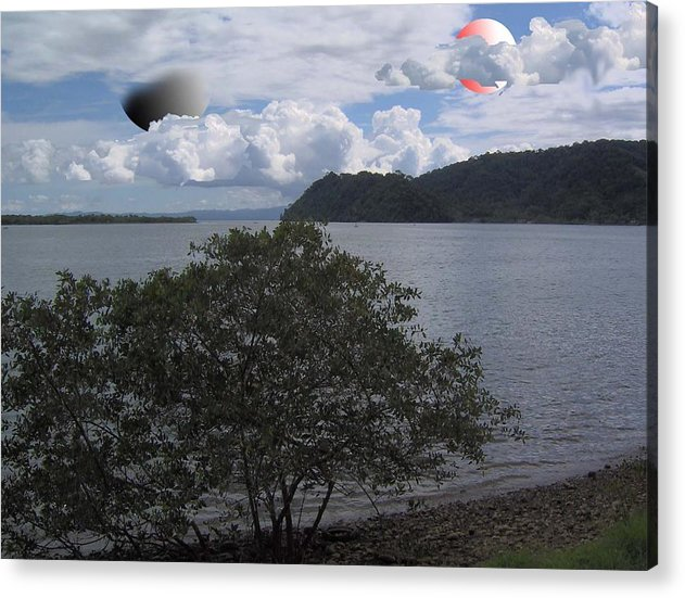 Land Scape Sci-fi Acrylic Print featuring the photograph The Coolness Of Other Planets by Giles b Liddell