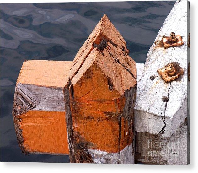 Pillar Acrylic Print featuring the photograph Wood Pillar by Carlos Alvim