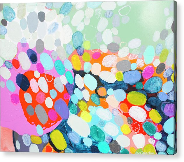 Abstract Acrylic Print featuring the painting Flushed by Claire Desjardins