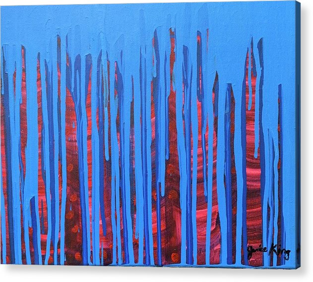Abstract Acrylic Print featuring the painting Night Life by Janice King