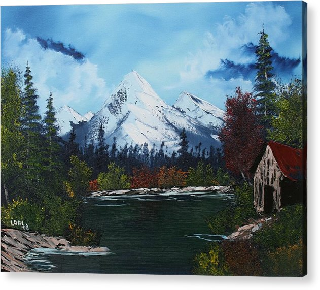 Landscape Acrylic Print featuring the painting Serenity by Lori DeBruijn