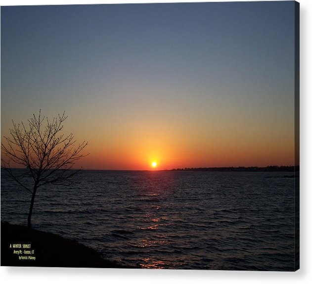 Sunset Acrylic Print featuring the photograph Winter Sunset by Patrick J Maloney