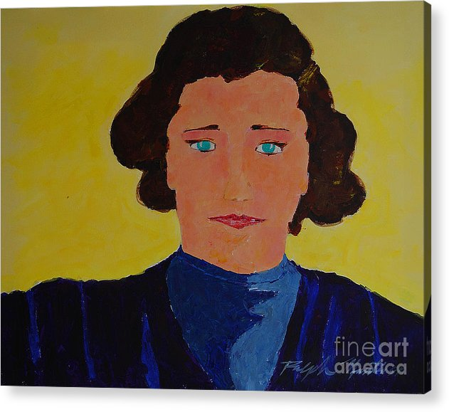 Portraiture Acrylic Print featuring the painting Anna by Art Mantia
