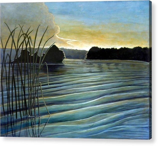 Rick Huotari Acrylic Print featuring the painting What A Beautifull Morning by Rick Huotari