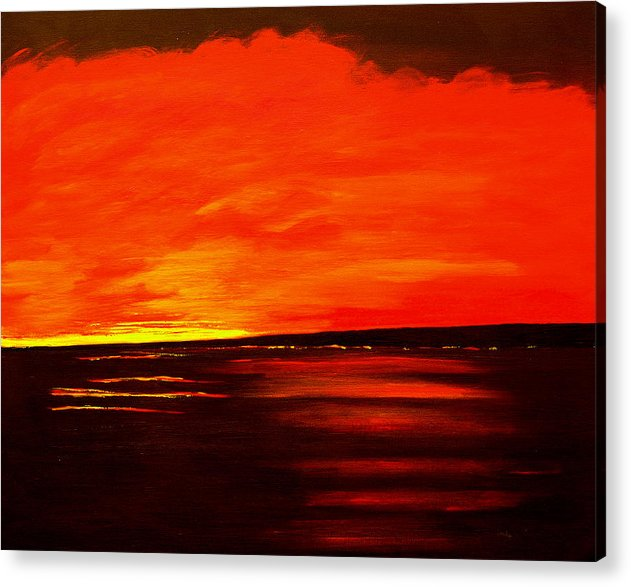 Caribbean Acrylic Print featuring the painting Flame Calm by Sula Chance