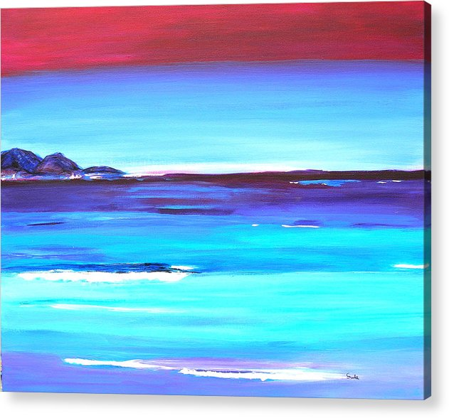 Caribbean Acrylic Print featuring the painting Indigo Island by Sula Chance