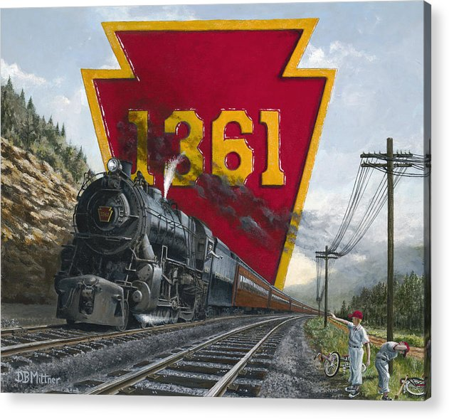 Trains Acrylic Print featuring the painting Memories Relived by David Mittner