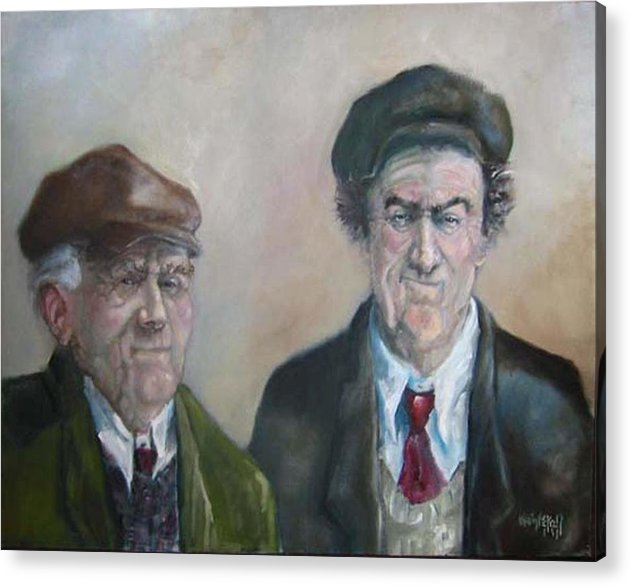 Portrait Figure Acrylic Print featuring the painting Father And Son by Kevin McKrell