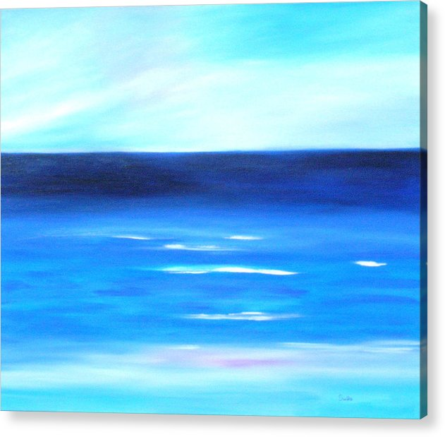 Caribbean Acrylic Print featuring the painting Sea Calm by Sula Chance