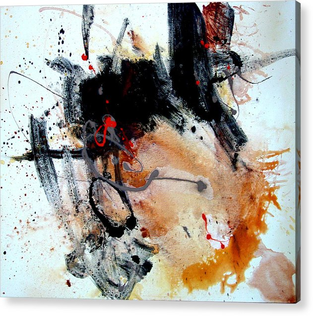 Abstract Acrylic Print featuring the painting Resolving Issues by Dale Witherow