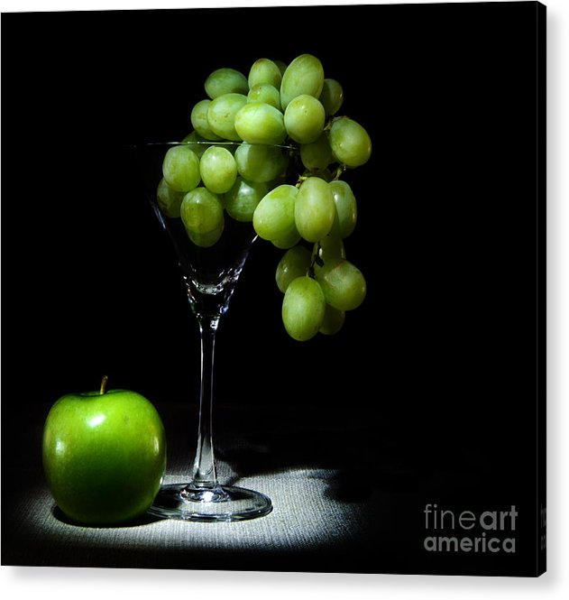 Grapes Acrylic Print featuring the photograph Grapes by Cecil Fuselier