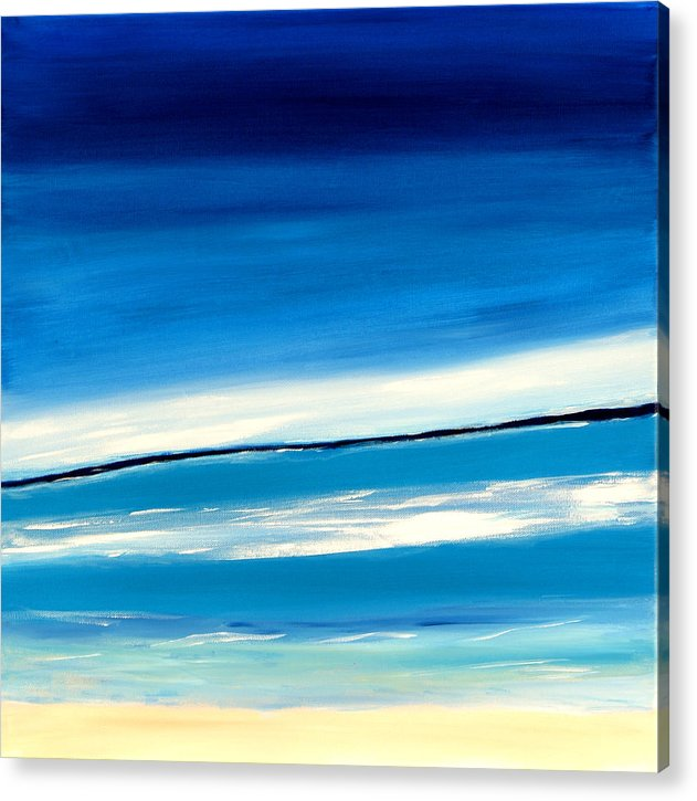 Caribbean Acrylic Print featuring the painting Manzanilla View II by Sula Chance