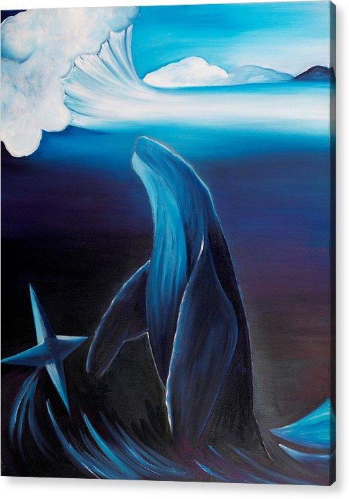 Acrylic Print featuring the painting Rising Spirit by Ara Elena