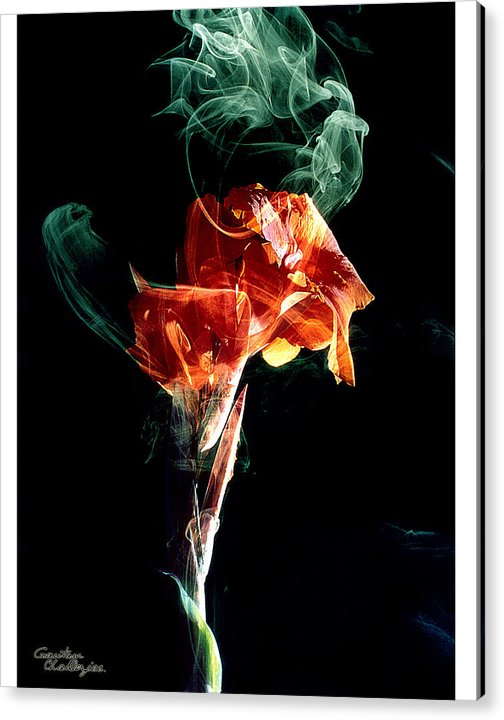 Smoke Acrylic Print featuring the photograph Smoke In My Mind - 3 by Gautam Chatterjee