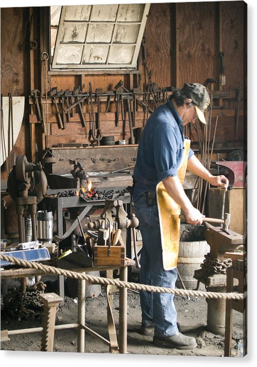 Decor Acrylic Print featuring the photograph The Blacksmith by Ron Kizer