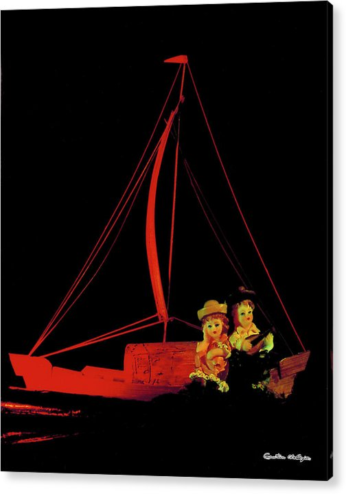 Red Boat Acrylic Print featuring the photograph The Leisure by Gautam Chatterjee