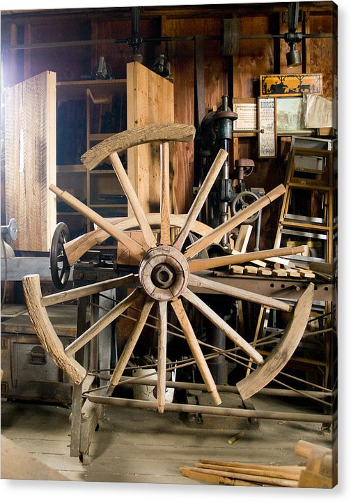 Decor Acrylic Print featuring the photograph The Wheelwright's Shop by Ron Kizer