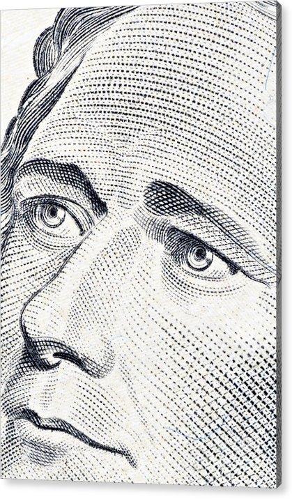 Alexander Acrylic Print featuring the photograph Alexander Hamilton's Ten Dollars Portrait by G J