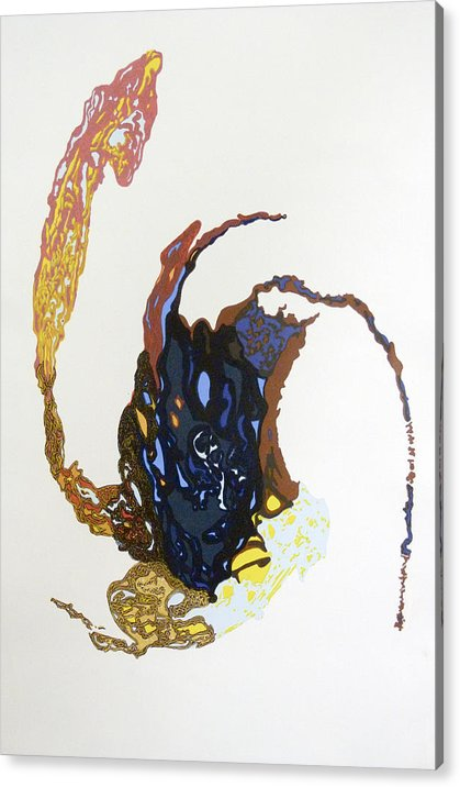 Abstract Expressionism Acrylic Print featuring the mixed media Coriolis by Mark Schmiedeberg