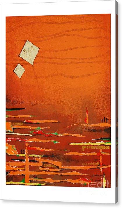 Abstract Acrylic Print featuring the mixed media Untitled by Padmakar Kappagantula