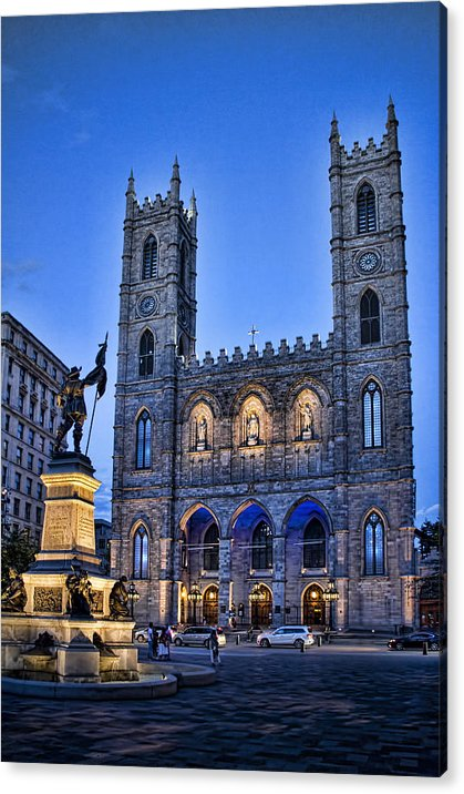 Notre Dame Basilica in Montreal as Dusk by David Smith