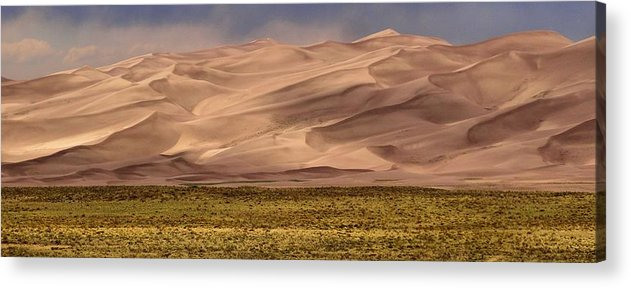 Great Sand Dunes In Colorado Acrylic Print featuring the photograph Great Sand Dunes In Colorado by Dan Sproul