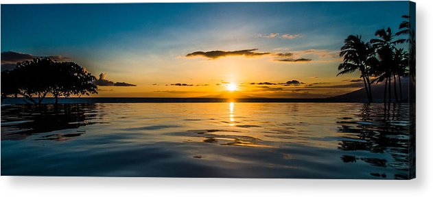 Sunset Acrylic Print featuring the photograph Setting Sun by Russell Mann